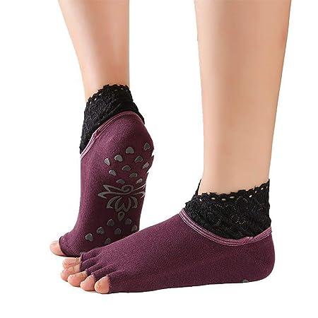 Calcetines Yoga Para Mujer Calcetines Antideslizantes Yoga ...