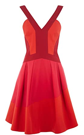 22f9685afb KAREN MILLEN Colour Contrast Full Skirted Dress