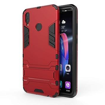 DAYNEW Coque pour Huawei Y9 2019, Dual Layer Etui Antichoc Premium Iron Man  Ultra Slim