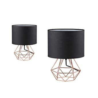 Modern Cage Desk Lamp Motent 2pcs Vintage Industrial Wire Cage Base