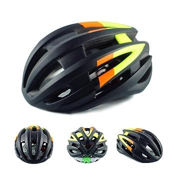 TKUI Ciclismo de Carretera Ajustable Casco de Bicicleta de Bicicleta de Montaña Casco de Seguridad de