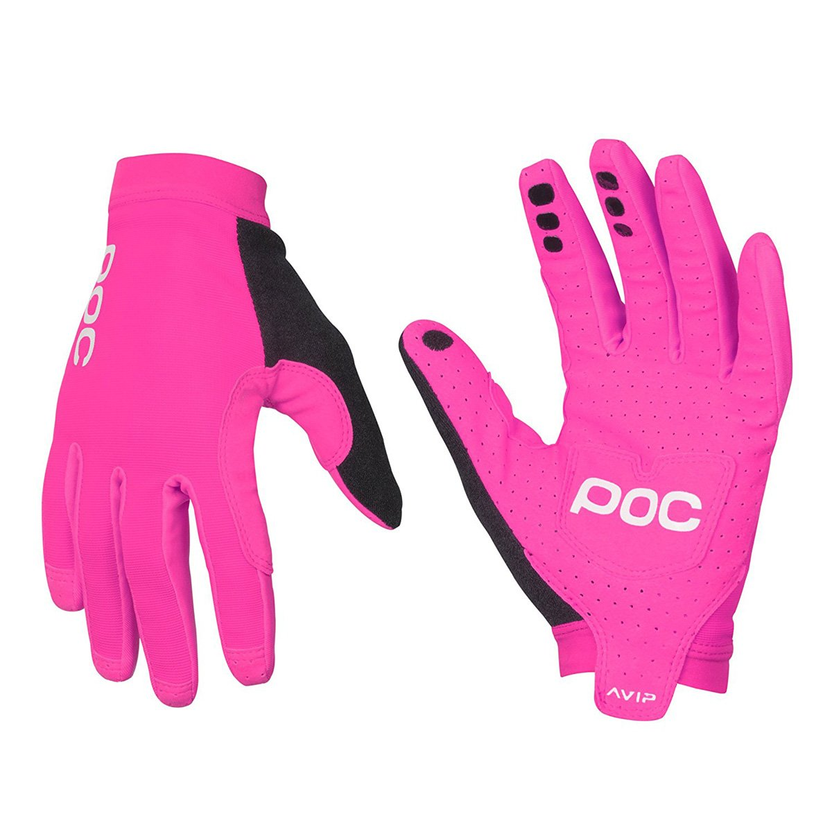 POC Avip Long Women 's Road Cycling Gloves蛍光ピンクLarge B0783ZKJ37