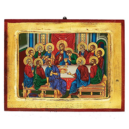 The Last Supper Greek Painted Icon by Catholic Gifts USA