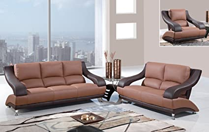 Amazon Com Global Furniture Usa 982 3 Piece Leather Living Room Set