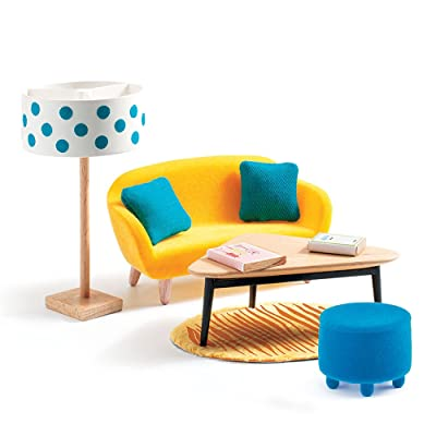 DJECO Dollhouse Living Room Furniture Playset: Toys & Games