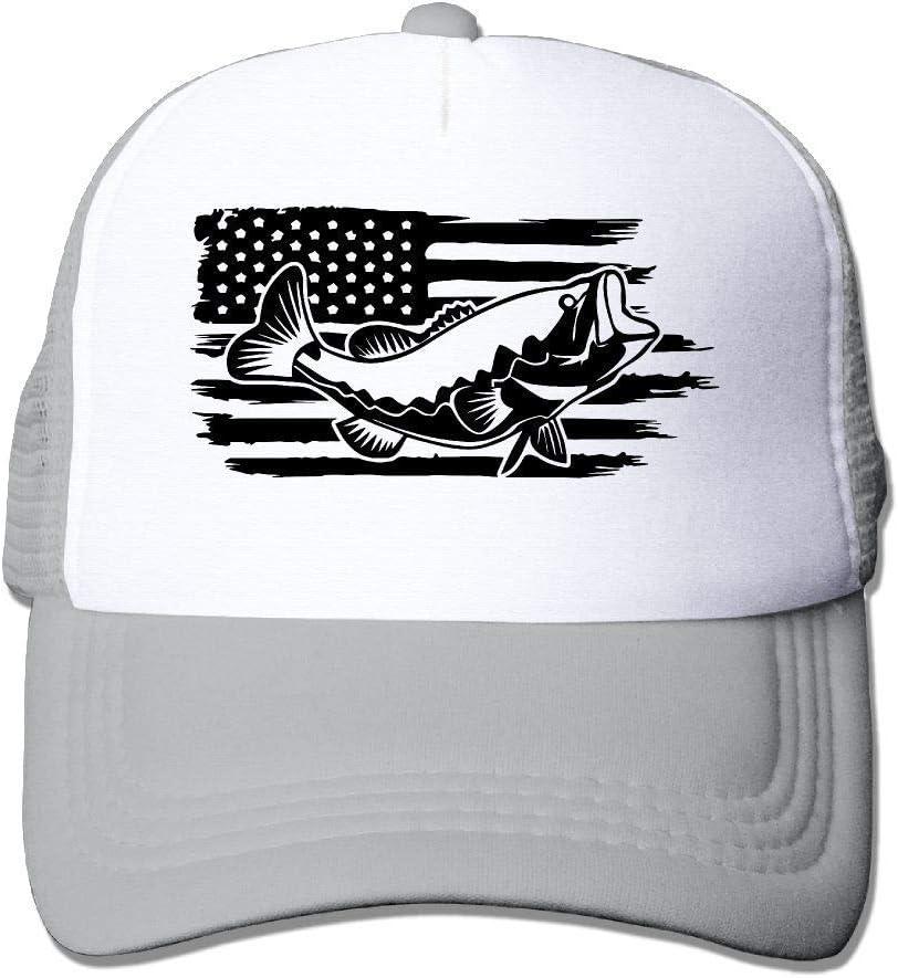 Voxpkrs Pesca Bandera Americana Unisex Ajustable Gorras de béisbol Deporte Día Sombrero Gorro Plano Q8S3S645