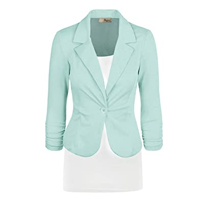 Hybrid & Company Womens Casual Work Office Blazer Jacket Made in USA at Women's Clothing store