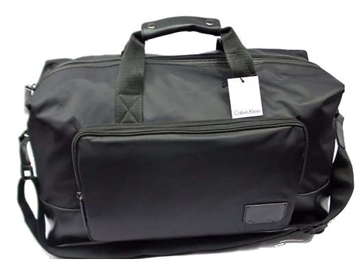 e5bece690e3 Amazon.com | Calvin Klein Cotton Nylon Duffel Bag (Black) | Travel ...