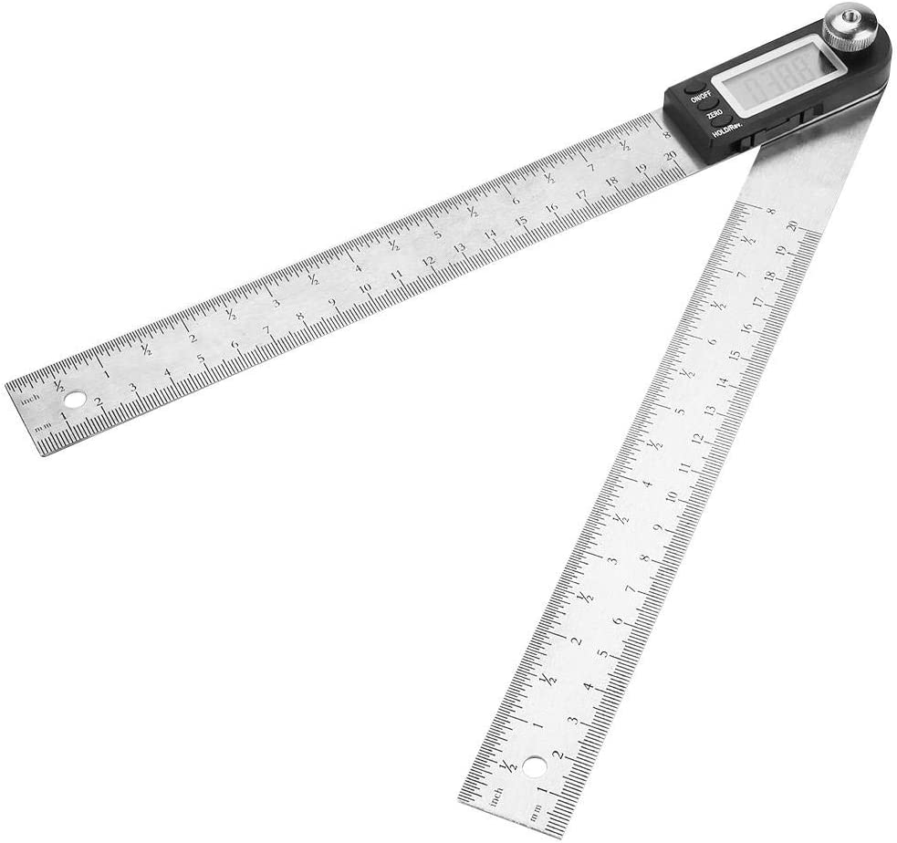 Elektronischer Digitaler Winkelmesser 200 MM Edelstahl Elektronischer Digitaler Winkelmesser Goniometer Winkelsucher Gehrungsme Taidda Winkelmesser Goniometer Winkelfinder Gehrung