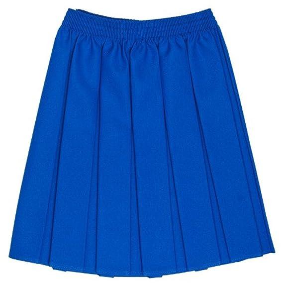 Ou Niñas Uniforme Escolar Caja Plisado elástico Falda Schoolwear ...