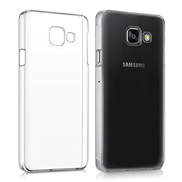 kwmobile Funda compatible con Samsung Galaxy A3 (2016) - Carcasa para móvil - Protector trasero en transparente