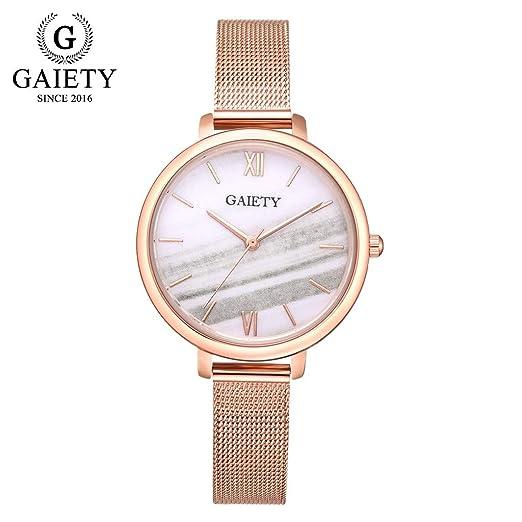 VEHOME Reloj para Mujer - Cinturón de Malla de Cuarzo.-Relojes Cuarzo relojero Reloj reloje hombresRelojes de Pulsera Marcas Deportivos: Amazon.es: Relojes