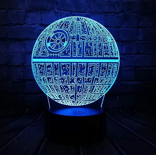 Star 3D Película Led Lámpara Astro Estrella Wars Usb Cartoon QdeECxBroW
