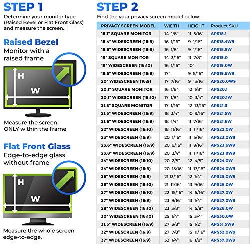 Adaptix 21.5 Inch Privacy Screen Filter (Diagonally Measured) 16:9 Aspect Ratio for Widescreen Computer LCD & LED Monitors - Anti Glare (APS21.5W) by Adaptix (Image #1)