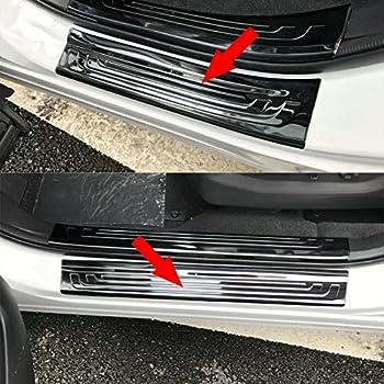 Fit For Honda New CRV CR-V 2017-2019 Door Sill Outside Plate Cover Trim BLK