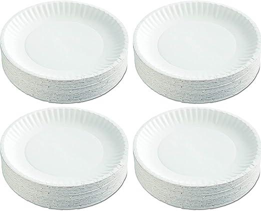White 9 Diameter Case of 1200 12 Packs of 100 Pack of 2 AJM Packaging Corporation PP9GRAWH Paper Plates