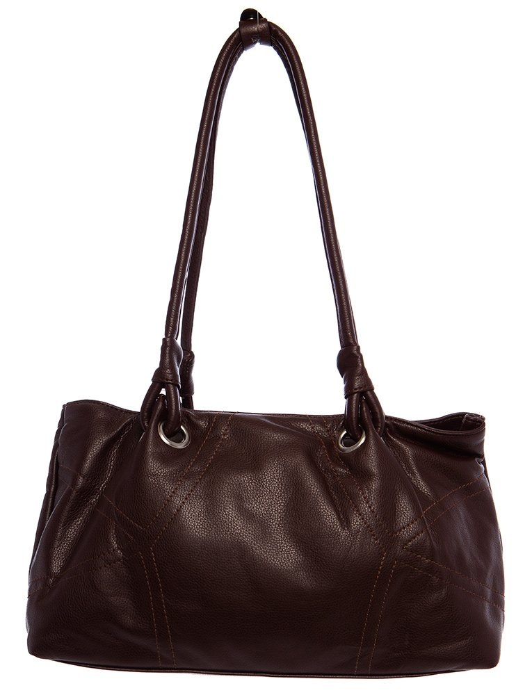 Large Simple Stitched Hobo Shoulder Handbag by Handbags For All