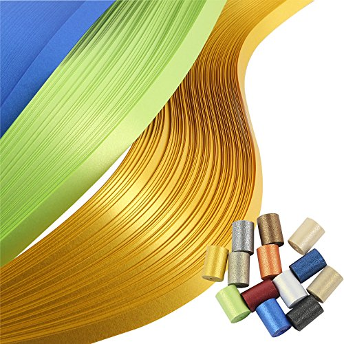 IMISNO Metallic Quilling Paper Set 5mm Width 780 Strips (13 Colors 54cm Length)
