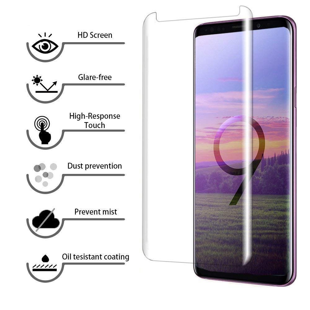 LEDitBe For Samsung Galaxy S9 Screen Protector, [2 Pack][3D Curved Tempered Glass] [Case Friendly] [Full Coverage][Anti-scratch][Bubble-Free] Screen protector Film for Samsung Galaxy S9[Clear] by LEDitBe (Image #2)