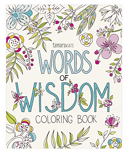 Eccolo World Traveler Tamara Kate Adult Coloring Book, Words of Wisdom (CB501) (Words Of Wisdom Quote Of The Day)