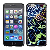 TECHCASE**Hard Protection Case Cover Skin for ** Apple iPhone 6 Plus 5.5 ** Grafiti Street Wall Art Painting Neon Brick