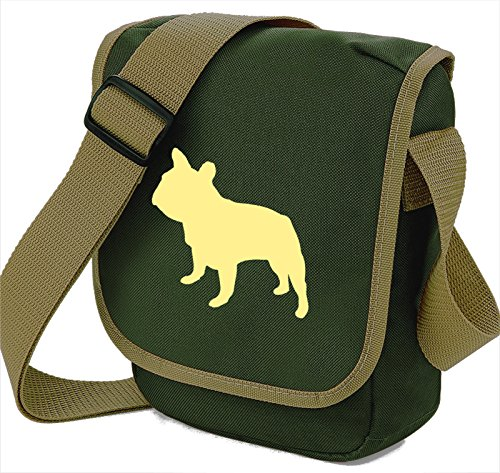 Bag Gift Bulldog Reporter Bulldog Choice Silhouette Colours French Bag Cream Dog of Frenchie Bag Bag Shoulder French Olive Dog Walkers q1f0B