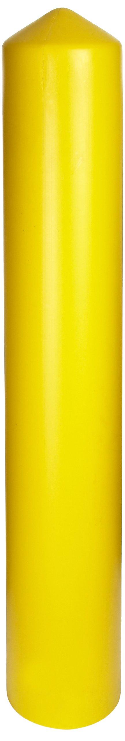 Eagle 1737 HDPE 8'' Smooth/Bollard Post Sleeve, Yellow, 9.375'' OD, 57'' Height