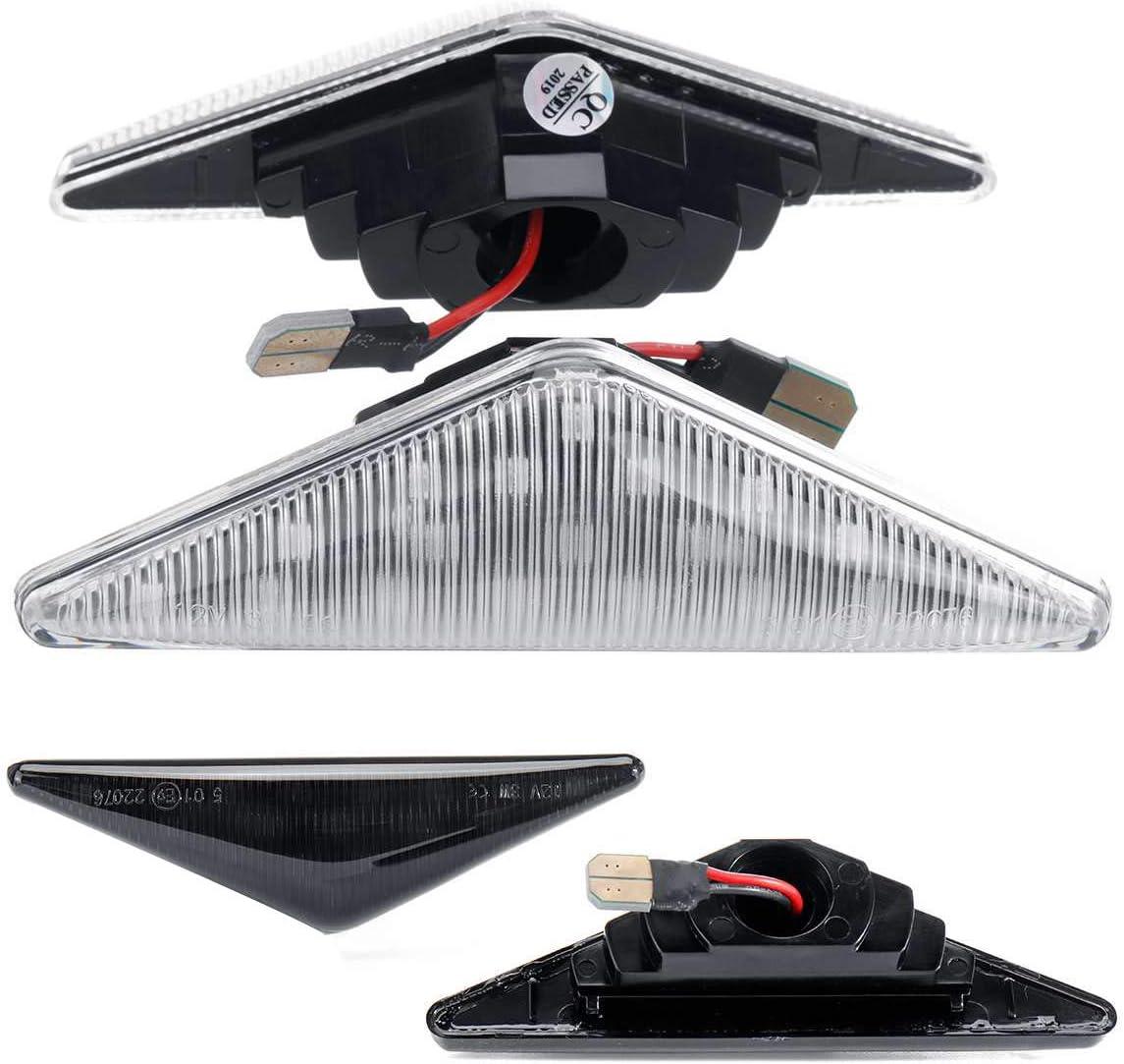 WOVELOT 1Pair Lumi/èRe De Voiture Lampe LED C?t/é Marqueur Clignotant Clignotant Indicateur pour Mondeo Mk1 Mk3 Transparent
