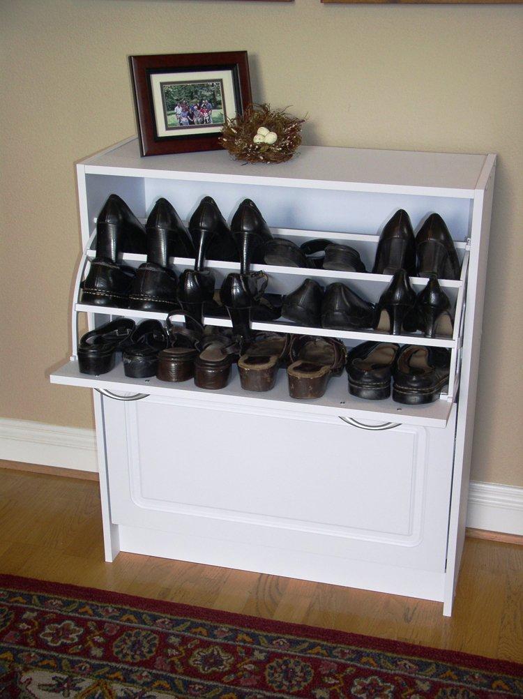 Amazon.com: 4D Concepts Deluxe Double Shoe Cabinet, White: Kitchen ...