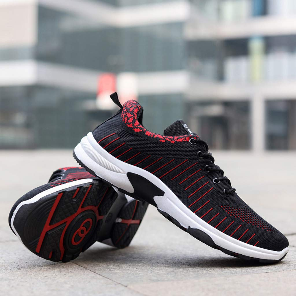 Haforever Mens Knit Breathable Comfortable Sneakers Lightweight Athletic Tennis Walking Running Shoes Fashion Sport Sneakers
