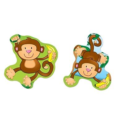 Carson Dellosa Monkeys Shape Stickers (168076): Carson-Dellosa Publishing: Office Products