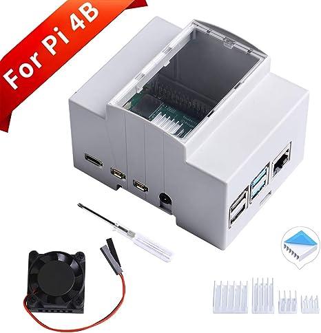 GeeekPi Caja para Raspberry Pi 4 en riel DIN: Amazon.es: Electrónica