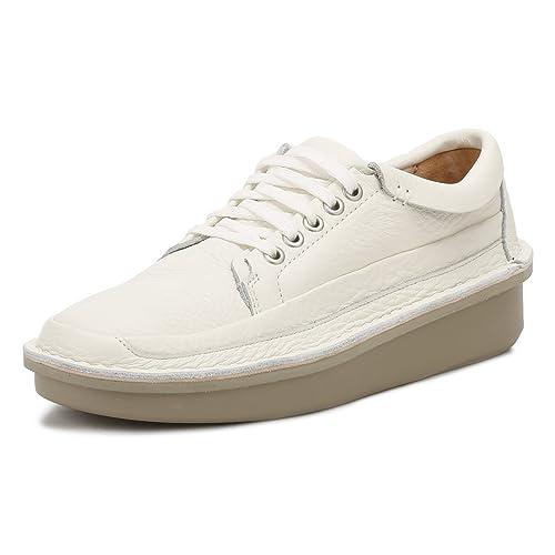 es Uk Blanco Hombres 12Amazon Clarks Cuero Zapatos Lo Oswyn shQrtxCd