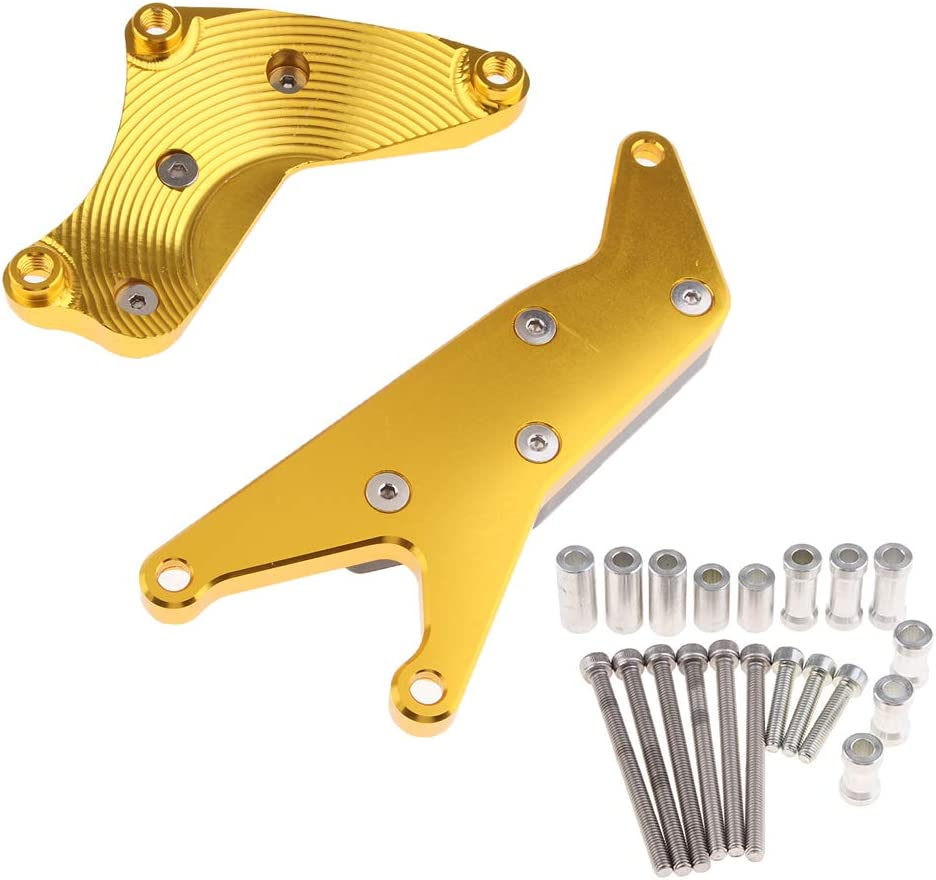 Gold Gazechimp Motorrad Motorschutzh/ülle Rahmen Slider Anti Crash Pads F/ür Suzuki GSXR 750 04 05