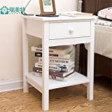 Freestanding Book Shelf / Desk Top Organization, Minimalist nightstands bedroom bedside cabinets,lockers Drawer Cabinet,574038cm, White