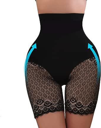 minifaceminigirl Shapewear for Women Tummy Control Panties Slim Waist Trainer High Waist Lace Briefs Underwear