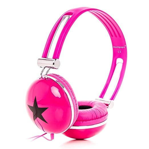 15 opinioni per RockPapa OV820S DJ Cuffie per Bambini / Adulti, Regolabile, Over-Ear per
