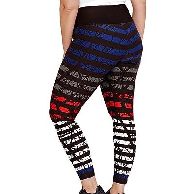 Été Pantalon de survêtement fines rayures Legging Pantalons Pantalons de yoga Strechy élastique taille haute Pantalons Pantalon de sport Plus Taille de sansee