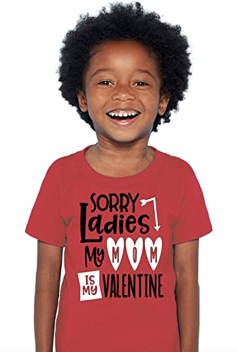 boys valentines day shirt sorry ladies my mom is my valentine red shirt black white toddler