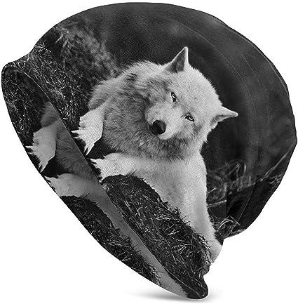 KONeil Wolf Wall Decor Wald Lone Wolf Gorro de Punto Grueso ...