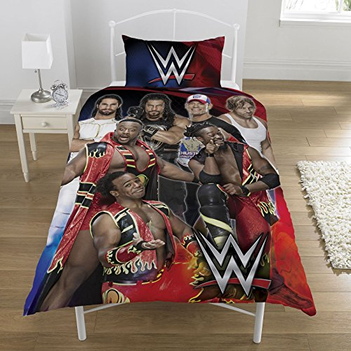WWE Super 7 UK Single/US Twin Duvet Cover and Pillowcase Set by WWE