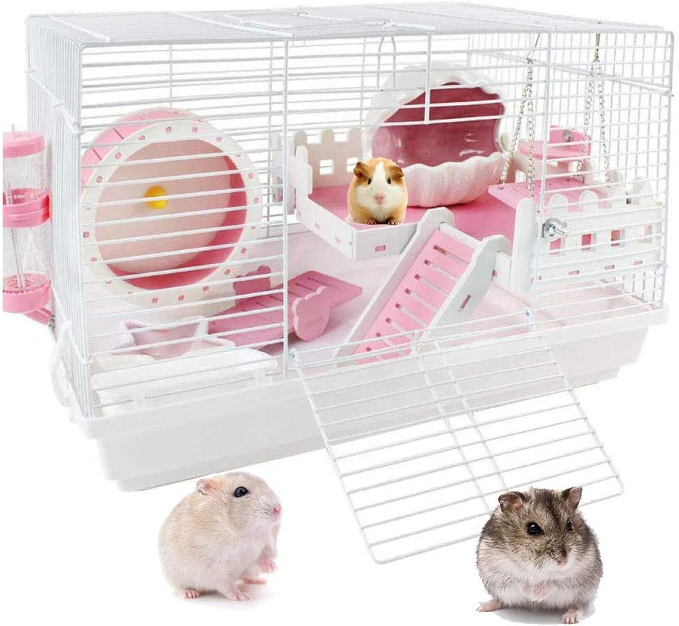 PETAMANIM Jaula para hámsteres, Casa para ratoncillos y pequeños roedores, Estructura en Varios Niveles, Accesorios incluidos