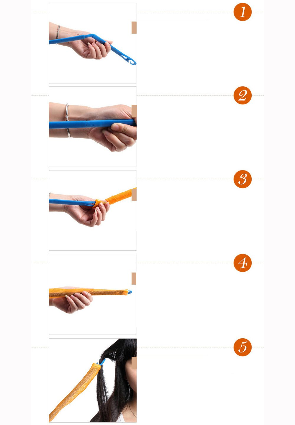 10pcs /& 50cm Fangfei Super Long Spiral Curls Styling Kit