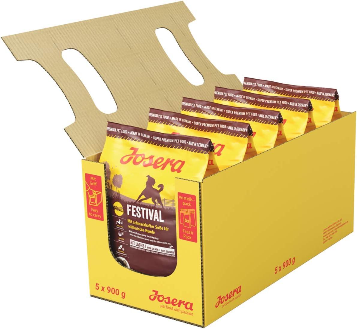 JOSERA Pack de Sacos de comida para Perro - Festival, 5x900 g ...