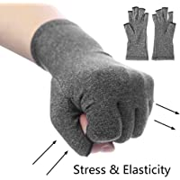 Greenstream Arthritis Compression Open-finger Gloves for Relief Of Rheumatoid and Osteoarthritis Joint Pain - Breathable Hands Warmer Gloves Support For Hands Men & Women