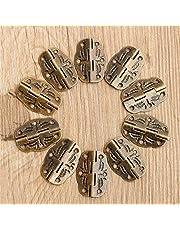 NO-LOGO EG-WUJIN, 10 stks/set 30mm X22mm Deur Butt Scharnieren Legering Roteerd Van 0 Graden tot 280 Graden Antieke Brons Tool Onderdelen
