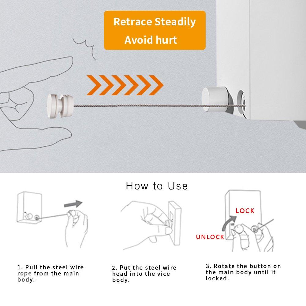 Amazon.com: BESy Retractable Clothesline ABS case+Aluminum Dryer ...