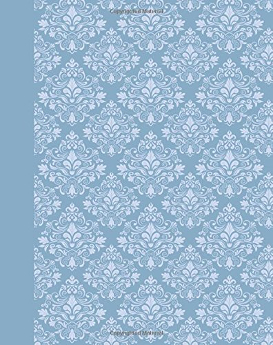 Journal: Damask (Light Blue) 8x10 - GRAPH JOURNAL - Journal with graph paper pages, square grid pattern (8x10 Patterns and Designs Graph Journal Series)