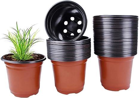 100 Pcs New Plastic Nursery Pots 4 Inch Garden Plant Flower Seedlings Seed Pot