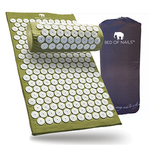 Bed of Nails, Green Original Acupressure Pillow for Neck/Body Pain Treatment, Relaxation, Mindfulness by Bed of Nails (Image #4)